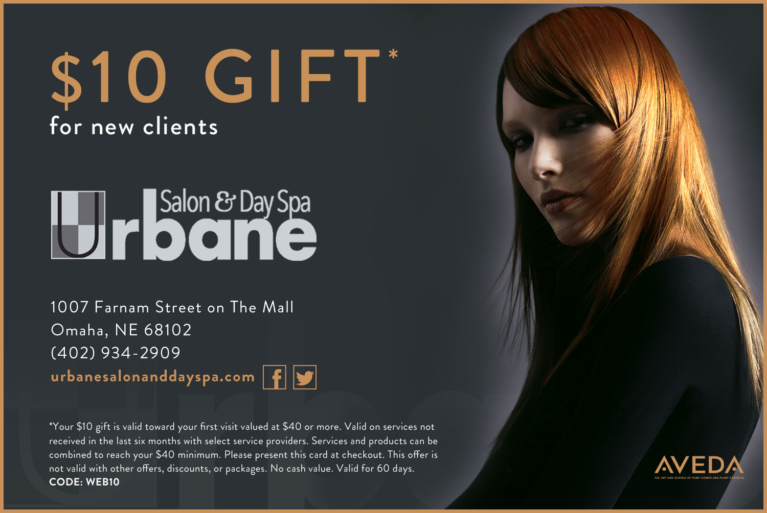 $20 Gift Certificate for Urbane Salon and Day Spa New Customers